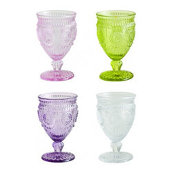 Parisian Glass - These vintage-inspired goblets look like they're straight out of a Parisian flea market. Sometimes it's just the right time for a hefty goblet.