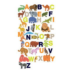 Design Your Wall - Alphabet Zoo - Wall Decal - Help your child become acquainted with the alphabet and animals of the world with our Alphabet Zoo Wall Decals. Letters and animals can be re-positoned and re-stuck to your heart's desire.