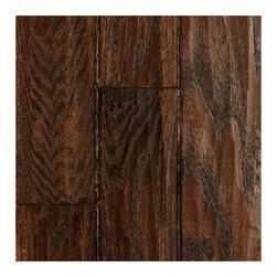 Virginia Mill Works Buckskin Mountain Oak Hand-Scraped Solid Flooring - Wooden floors with a weathered look definitely speak of a farmhouse kitchen.