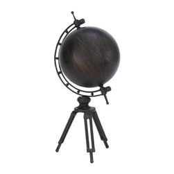 Benzara - Metal Globe with Arc Shape - Metal Globe is an excellent anytime low priced table decor upgrade option that is high in modern age decor fashion because of its great decor appeal and educational worth. Metal globe with arc mounted on a tripod works as an excellent educational tool for your children.