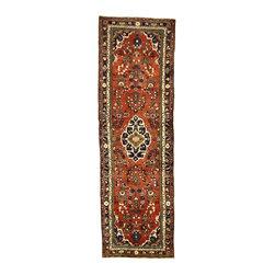 eSaleRugs - 3' 8 x 11' 7 Khamseh Persian Runner Rug - SKU: 110891513 - Hand Knotted Khamseh rug. Made of 100% Wool. 20-25 Years.