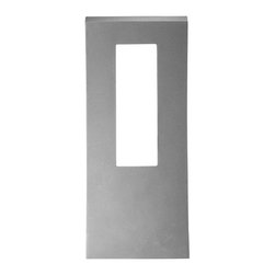 "Modern Form - WS-W2216 Dawn 16"" 16W LED Outdoor Wall Light, Ws-W2216-Gh - Cutting edge abstract design to complement modern architecture. Energy efficient indirect ambient lighting and down lighting creates bright, beautiful spatial illumination for superb security and architectural accent. Dawn provides a distinctive profile that reflects the best in urban refinement and sophistication."