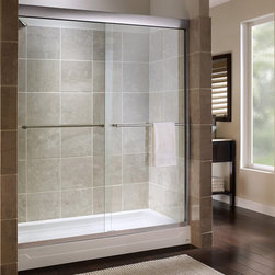 "American Standard AM00170.400 Tuscany 72"" Tall Frameless, Bypass, Clear Glass Sh - American Standard AM00170.400 Tuscany 72"" Tall Frameless, Bypass, Clear Glass Shower Door - Fits 44"" to 48"" Width Openings. An American brand with over 140 years of innovations, American Standard is defined by experience, intelligence, and indelible influence."