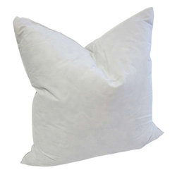 "Down Decor - Hight Quality Down/Feather Pillow Insert (Made in USA), 20""x20"" - - 5% Down & 95% feather fill (Available in 12""x20"", 20""x20"")"