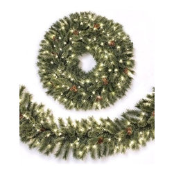 Whitehall Spruce Christmas Wreath & Garland - USHER IN THE HOLIDAY CHEER WITH OUR WHITEHALL SPRUCE WREATH AND GARLAND