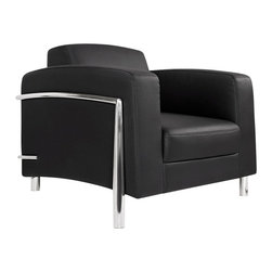 At the Office - 1 Series Lounge Chair - Fall into this welcoming lounge chair and surround yourself in luxury. Besides the pleasure-inducing padding, it's high armrests will keep you nestled in comfort.