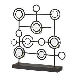 Sterling Industries - Sterling Industries Iron and Mirror Tea Light Stand (129-1059) - Sterling Industries Iron and Mirror Tea Light Stand (129-1059)