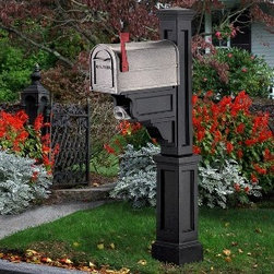 Mayne Dover Mailbox Package - Includes Post and Mailbox - This is the Mayne Dover mailbox package in black, which includes the mailbox and post.  It retails for $276.07 with free shipping at http:// mailboxixchange.com