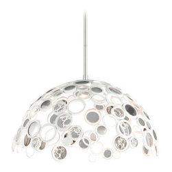 Corbett Lighting - Corbett Lighting 187-45 Fathom Polished White Pendant - Corbett Lighting 187-45 Fathom Polished White Pendant