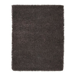 Anji Mountain - 4' x 6' Graphite Silky Shag Rug - Softer and silkier than traditional shag rugs made from wool or synthetic fibers. Uniquely luxuriant look and feel due to custom specified blended yarn (50% rayon made from bamboo, 50% cotton).