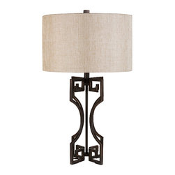 Samson Wrought Iron Table Lamp - Finish: Wrought iron