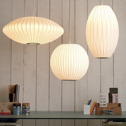 "Stardust Retro Nelson Saucer Lamp Mid-Century Modern Design - Stardust Retro Nelson Saucer Lamp Mid-Century Modern Design.  Nelson Bubble Lamp with Saucer-Shape.  Saucer Lamps are modern pendant lighting fixtures from the 1950s. Design: George Nelson. Style: Midcentury. Certification: CE, UL and cUL listed. Saucer Bubble Pendants.  From Stardust.com.  Select from 4 sizes. Small: 7.5""H x 17.5""DIA. Medium: 9.5""H x 25""DIA. Large: 14""H x 36""DIA. Extra Large: 20""H x 55""DIA. Prices start at $269.  Stardust."