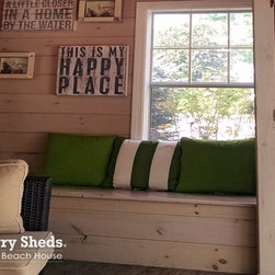 """Reeds Ferry  Sheds® - Interiors - Reeds Ferry Sheds® are not just for storing lawn equipment. Our customers use our buildings for their pool house, guest house, office, and more. Take a tour of our """"shed"""" interiors."""