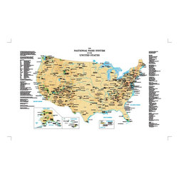 Murals Your Way - National Parks Map Wall Art - Painted by Murals Your Way Maps, National Parks Map wall mural from Murals Your Way will add a distinctive touch to any room