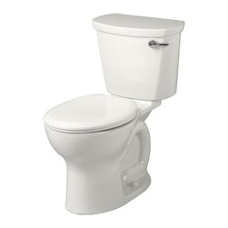 "American Standard - American Standard 215B.A105.020 Cadet Pro Rounded-Front 12"" Rough Toilet, White - American Standard 215B.A105.020 Cadet Pro Right-Height Rounded-Front 12"" Rough Toilet, White. This vitreous china constructed round-front toilet meets EPA WaterSense criteria, a trade-exclusive tank, a PowerWash rim that scrubs the bowl with each flush, a robust metal right-sided trip lever/metal shank fill valve assembly, an EverClean surface, a 4"" piston-action Accelerator flush valve, a 12"" Rough-in, a chrome finish trip lever, and a fully-glazed 2-1/8"" trapway."