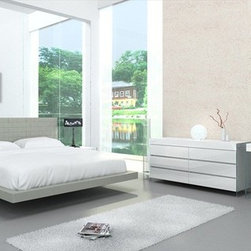 Casabianca Furniture - Zack King Bed in Grey - CB/C1301-KG - Zack Collection King Bed