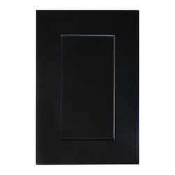 """Society Shaker Black Matching Tall End Panels For 12x96 Cabinets (2 Pc Set) - The Society Shaker Black offers a well-designed and classy look. These cabinets feature a jaw-dropping painted black finish. The Society Shaker Black cabinets feature quality construction and excellent craftsmanship. If you're looking for a stylish look to enhance your kitchen then look no further! Width """" Height """".  Matching tall end panels (dummy doors) for a 12x96 cabinet. Includes 1 MWEP1242 (top end panel) and 1 MTEPBTM (bottom end panel). Skins are recommended for use with end panels, but not absolutely required.  The use of skins allow for the easier return of crown moldings due to the traditional projection of the face frame 1/4"""" past the side panel. To finish crown with only a panel requires scribe molding to finish the distance (1/4"""