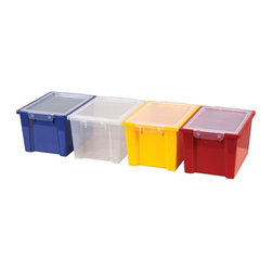 ECR4KIDS - ECR4KIDS 20 Large Storage Bins with Clear Lids - Set of 20 - ELR-0723-CL - Shop for Baskets from Hayneedle.com! About Early Childhood ResourcesEarly Childhood Resources is a wholesale manufacturer of early childhood and educational products. It is committed to developing and distributing only the highest-quality products ensuring that these products represent the maximum value in the marketplace. Combining its responsibility to the community and its desire to be environmentally conscious Early Childhood Resources has eliminated almost all of its cardboard waste by implementing commercial Cardboard Shredding equipment in its facilities. You can be assured of maximum value with Early Childhood Resources.