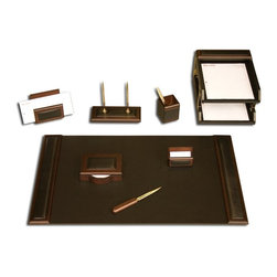Dacasso - Dacasso Walnut 10 Piece Wood & Leather Desk Set Brown - D8420 - Shop for Desk and Drawer Organizers from Hayneedle.com! About Dacasso Limited Inc.Located in Gainesville Florida Dacasso offers quality desk sets and unbeatable customer service. Dacasso manufactures leather and wood desk accessories and their product line ranges from complete leather desk sets that perfectly present a professional look to leather calendar holders that provide organization for day-to-day responsibilities. A company that believes in its products and service Dacasso guarantees your satisfaction.