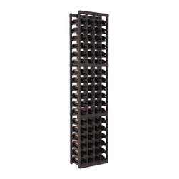 Wine Racks America - 4 Column Standard Wine Cellar Kit in Redwood, Black + Satin Finish - Rock solid design from our unparalleled fabrication standards. We create superior racks from superior materials. We back that claim with a lifetime warranty and a cash back promise. Modular engineering enables hassle-free expansion and experimentation.