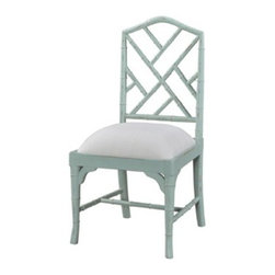Custom Chinese Chippendale Chair - A favorite of mine, this Chinese Chippendale chair lets you be the designer. You pick the finish, color, fabric and level of distressing for a chair that is truly unique and truly yours.