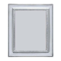 "Silverstar International - 5""x7"" Bienville Silver Sterling Frame - The Bienville frame is a solid 925 sterling photo frame with a beaded border whose inner border has a beautiful motif. The Silverstar International 925 Sterling Silver picture frame has a veneer mahogany wooden back and easel. It can hold both vertical and horizontal pictures and has a slide tab closure that grants easy access. As an ""Our Daughter's Wedding"" frame, the Benoit is perfect for wedding and bridal party favors as well as anniversary gifts. Make this a personalized photo frame giftby custom engraving a very special message for the one you love. Every Silverstar picture frame is designed with a tarnish resistant surface for easy cleaning and glare resistant glass."
