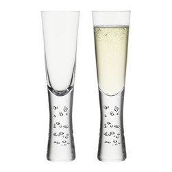Verve Sparkling Wine - A play of random bubbles adds verve to the exaggerated sham of this slender, ultra-modern flute. Subtly tapered shape feels great in the hand.