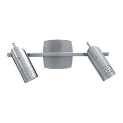 Access Lighting - Access Lighting 52018-BS Odyssey 2 Light Bathroom Vanity Lights in Brushed Steel - Ceiling or Wall Spotlight Rail