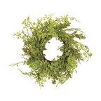 Button Leaf Mini Wreath - A mini wreath is great for a table centerpiece or as a bookshelf accessory.