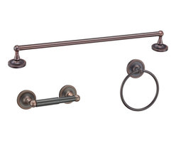 Designers Impressions - Naples Series 3 Piece Oil Rubbed Bronze Bathroom Hardware Set - Finish: Oil Rubbed Bronze