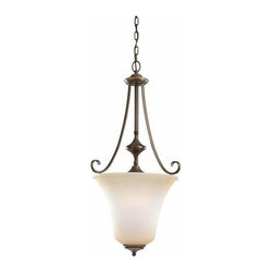 Sea Gull Lighting - 3-Light Hall / Foyer Russet Bronze - 51380-829 Sea Gull Lighting Parkview 3-Light Hall / Foyer with a Russet Bronze Finish
