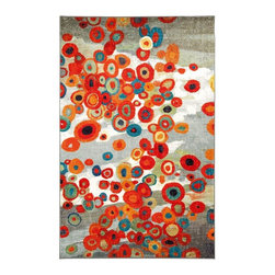 Mohawk - Contemporary Tossed Floral 5'x8' Rectangle Multi Color Area Rug - The Tossed Floral area rug Collection offers an affordable assortment of Contemporary stylings. Tossed Floral features a blend of natural Multi Color color. Machine Made of Nylon the Tossed Floral Collection is an intriguing compliment to any decor.