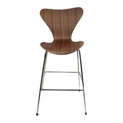 Lemoderno - Fine Mod Imports  Jays Counter Stool, Walnut - Jay Counter Stool is great for homes and business use. With its simple shape the chair is sure to provide great comfort wherever used.     Assembly Required