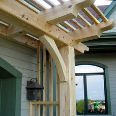 Traditional Patio by Homestead Timber Frames