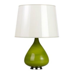 Jonathan Adler Capri Short Green Glass Table Lamp - My favorite lamps are the ones that add color to your space.