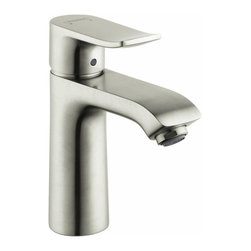 Hansgrohe - Hansgrohe Metris 110 Single Hole Faucet, Brushed Nickel (31080821) - Hansgrohe 31080821 Metris 110 Single Hole Faucet in Brushed Nickel