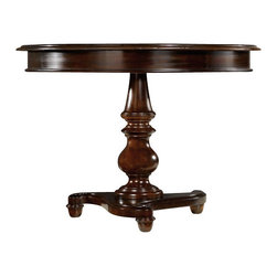 Hooker Furniture - 42inch Pedestal Table - Even the most delectable food loses something when served on a TV tray. Conversely, a TV dinner tastes better on an elegant dining table. So elevate your food and your mood by dining on this exquisite pedestal table. The lovely detailing will make your mouth water.