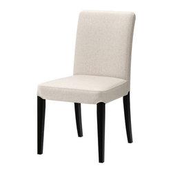 IKEA of Sweden - HENRIKSDAL Chair - Chair, brown-black, Linneryd natural