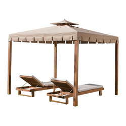 Westminster Teak Furniture - Westminster Teak Wood Gazebo - Create your own resort with this teak wood gazebo. Sold with a li