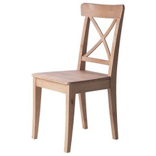 Traditional Dining Chairs Ikea Ingolf Chair in antique stain