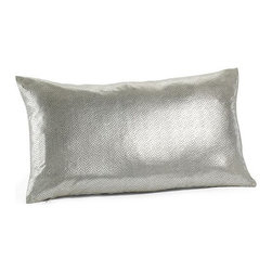 Frosted Foil Pillow Cover - Add some dazzle to your furniture with this blinged-out throw pillow. I love the sparkle and foil-printed snakeskin.