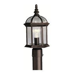 Kichler - Kichler 9935BK 1 Light Post Light from the Barrie Collection - Kichler 9935 Barrie Outdoor Post Light