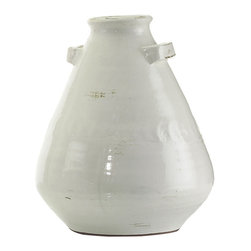 John Richard - John Richard White Lekythos Inspired Jar JRA-8841 - White cloud Lekythos inspired pottery jar Note: Hand thrown ceramic, variations may occur.