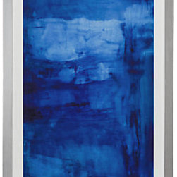 Z Gallerie - Into The Blue - Poster framed in square silver wood frame with a white mat.