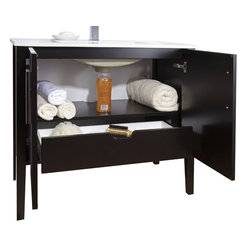 VIGO Industries - VIGO 36-inch Maxine Single Bathroom Vanity, Espresso, Without Extras - The VIGO Maxine collection is a modern and assertive addition to any bathroom.