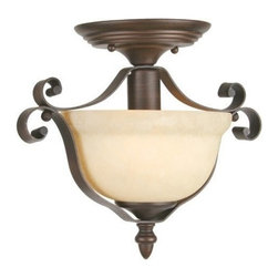Livex Lighting - Livex Manchester Semi Flush Imperial Bronze -6148-58 - Livex products are highly detailed and meticulously finished by some of the best craftsmen in the business