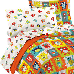 CHF Industries Inc - Silly Monsters Full Bedding Set 7pc Colorful Animals Bed - FEATURES: