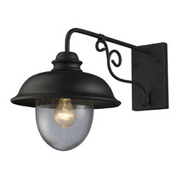 ELK Lighting - ELK Lighting 62001-1 Streetside Cafe 1 Light Outdoor Wall Lights in Matte Black - This 1 light Outdoor Sconce from the Streetside Cafe collection by ELK will enhance your home with a perfect mix of form and function. The features include a Matte Black finish applied by experts. This item qualifies for free shipping!