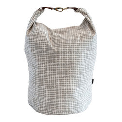 MAIKA - Recycled Canvas Snap+Fold Bucket, Woven Grey, XLarge - Our canvas buckets are great for display and storage.