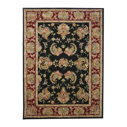 "Safavieh - Traditional Traditions 9'6""x13'6"" Rectangle Black Area Rug - The Traditions area rug Collection offers an affordable assortment of Traditional stylings. Traditions features a blend of natural Black color. Hand Tufted of Wool & Silk the Traditions Collection is an intriguing compliment to any decor."